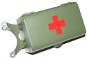First aid box green